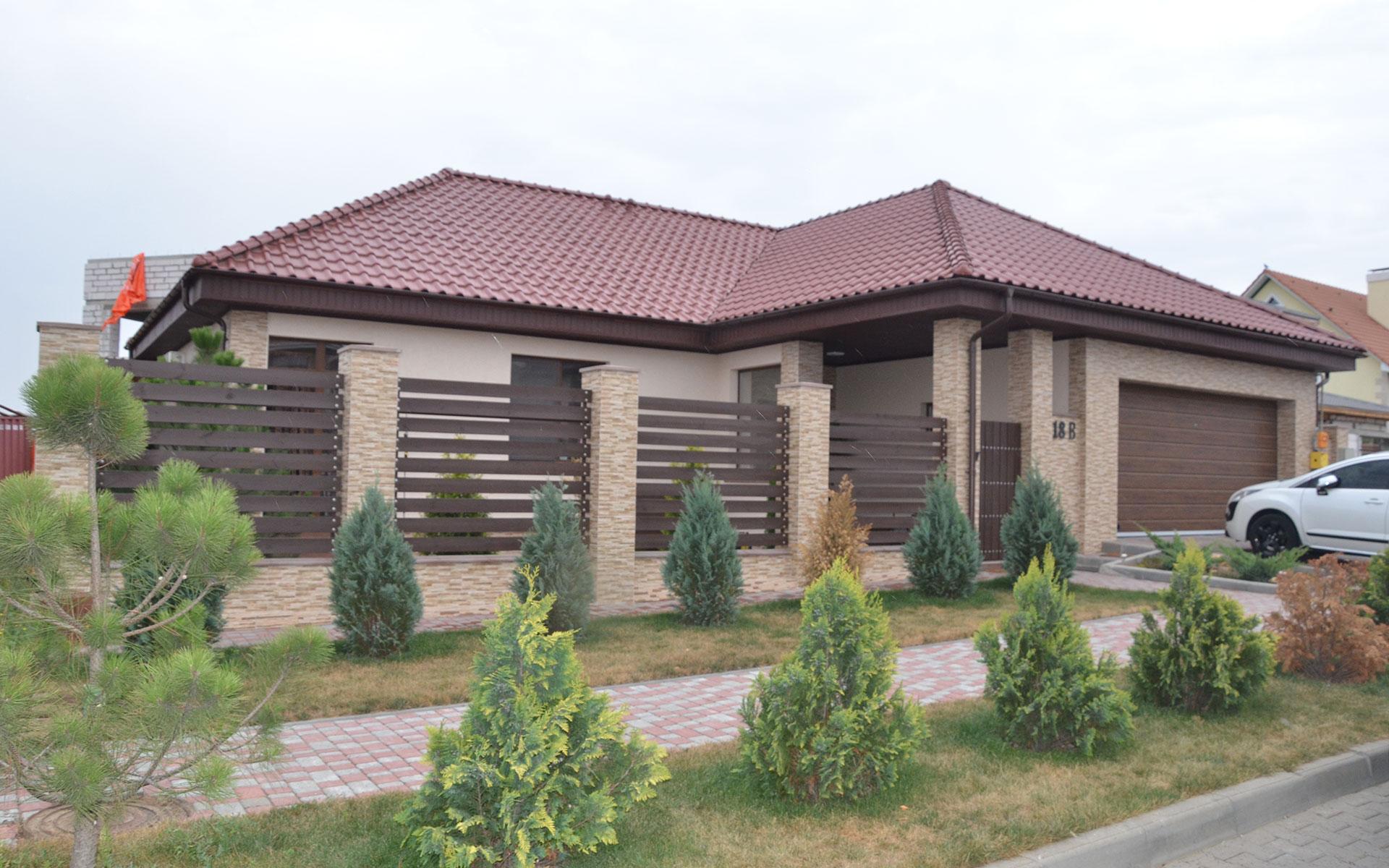Построенный дом в Совиньоне по проекту